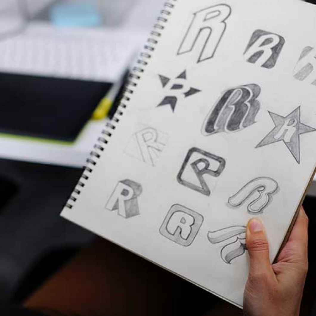 Visualize your logo and we'll bring it to life